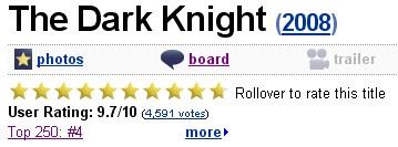 The Dark Knight pe IMDb