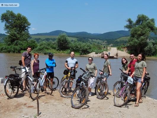 Trupa de biciclişti la Mureş