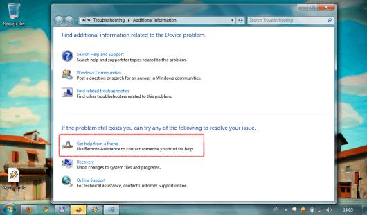 Windows 7, sună un prieten